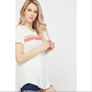 Tops - *preorder Rainbow distressed soft T-shirt